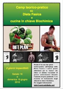 Programma Camp Dieta Fasica e cucina Biochimica
