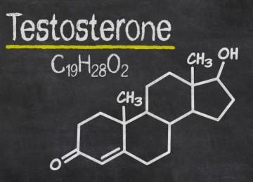 Testosterone scritto sulla lavagna
